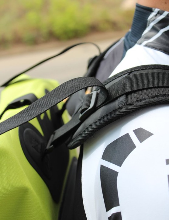 Adjustment options abound, and the pack is comfortable on the bike