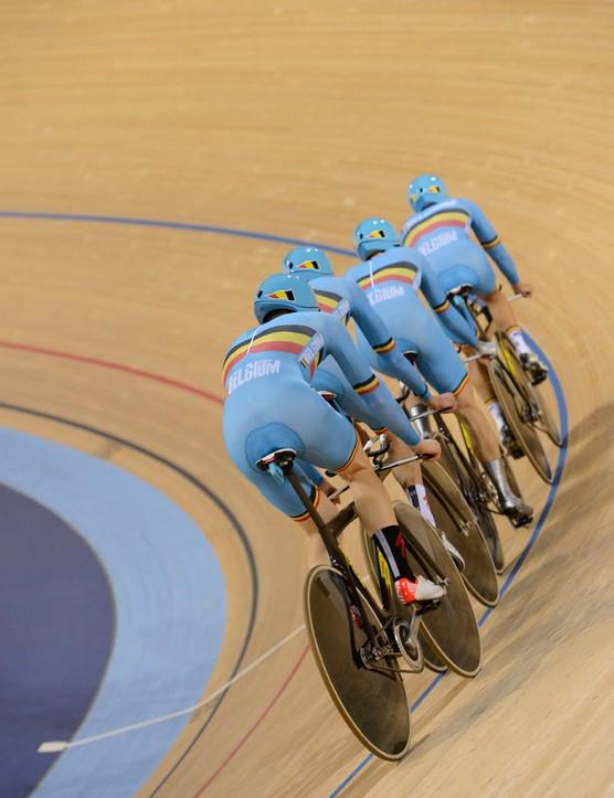 The Belgian pursuit team