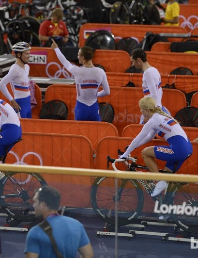 The Russians warm up