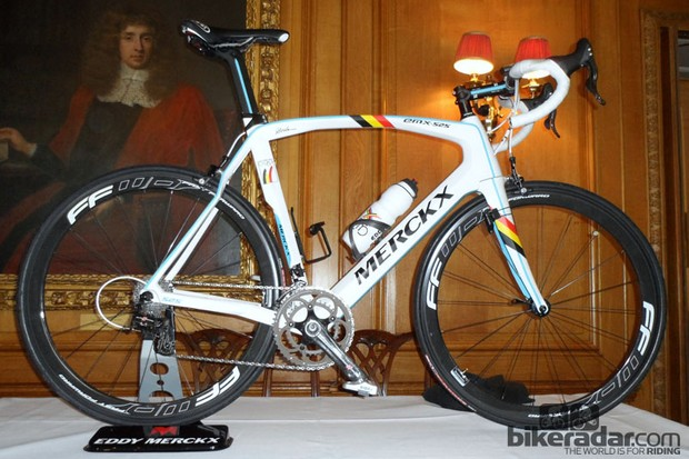 The Eddy Merckx 525 - in Belgian Olympic team colours (sadly you can't buy this option)