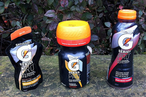 Gatorade's G Series Pro range of energy products is designed to be used as a trio for before, during and after training or an event