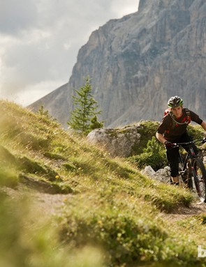 The big muscular Italian Dolomites near Cortina provide the perfect place for testing what Trek label as their
