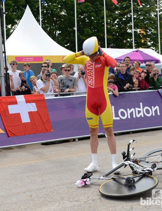 This is not how Sanchez envisioned his Olympic time trial to begin