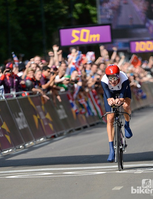 Olympic glory flashed into Wiggins eyes as he crossed the finish