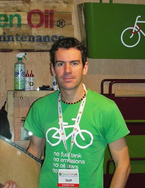 Simon Nash says that one of Green Oil's next potential projects could involve recycling punctured inner tubes, currently thrown away in their millions by bike shops