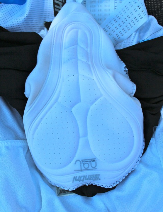 The five-layer chamois feaures a gel insert