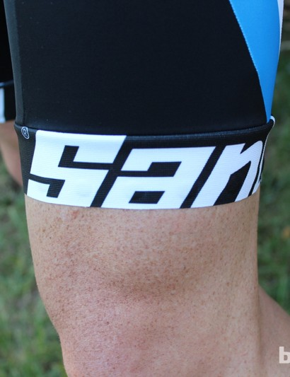 The bibs feature light compression Lycra