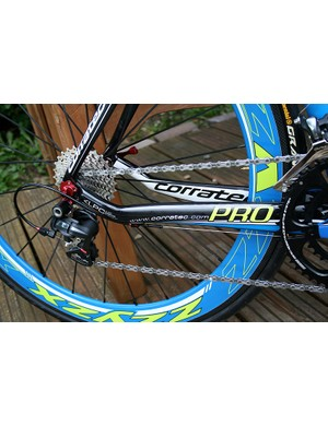 The Corratec Pro CCT is used by pro squad Team Corratec Nutrixxion