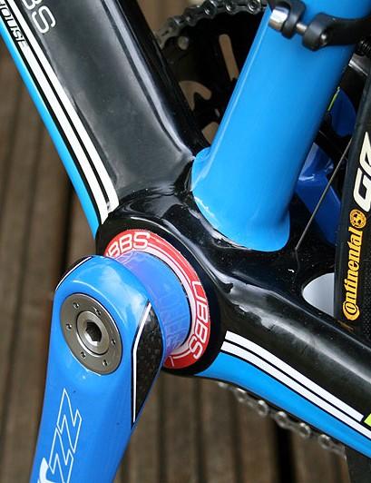 The BB30 bottom bracket on the Pro CCT