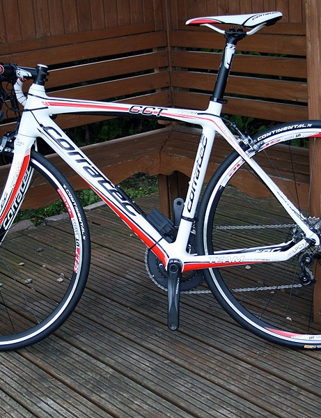 The Corratec CCT Team is made from a lesser-grade carbon than the CCT Pro