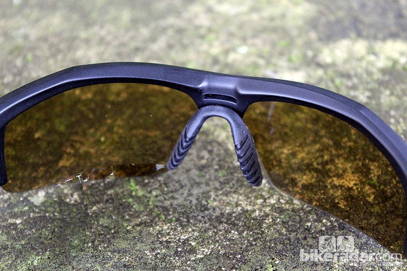 The nosepiece on the MAX Transitions Outdoor glasses is comfortable and secure