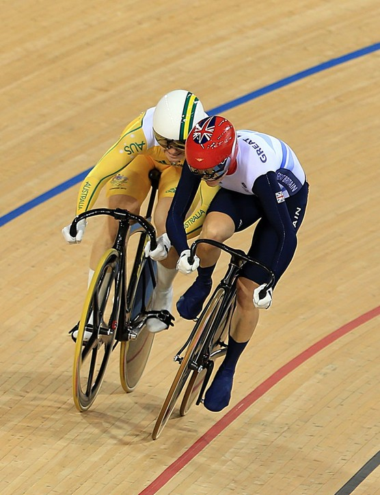 Pendleton came out of her lane and into Meares in the first round of the final, causing her to be relegated by the commissaire