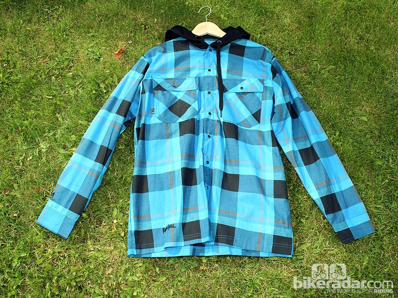 The Cutter Hoody Shirt (£69.99) is cut for both on and off the bike usage and comes in this checked royal blue or black