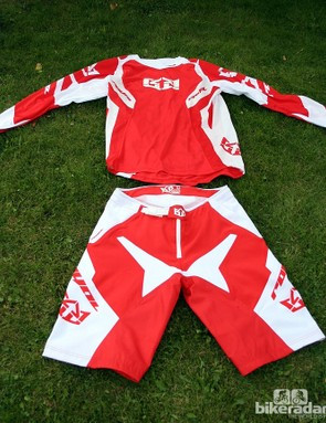 The Race jersey (£49.99) and shorts (£89.99) are for downhill riding and come with subtler graphic options for 2013. They're available in the red/white shown here, plus royal blue/white and black/white. The jersey is made from a breathable vented mesh