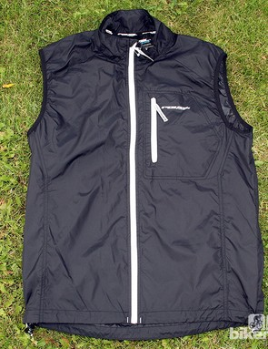The LT Gilet (£49.99) comes in royal blue and black and has three rear pockets, a full-length front zip and a zipped chest pocket