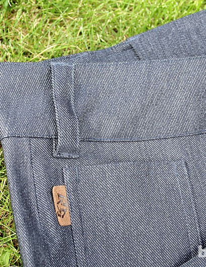 The Domain pants come in this black/cloudburst colour or denim blue