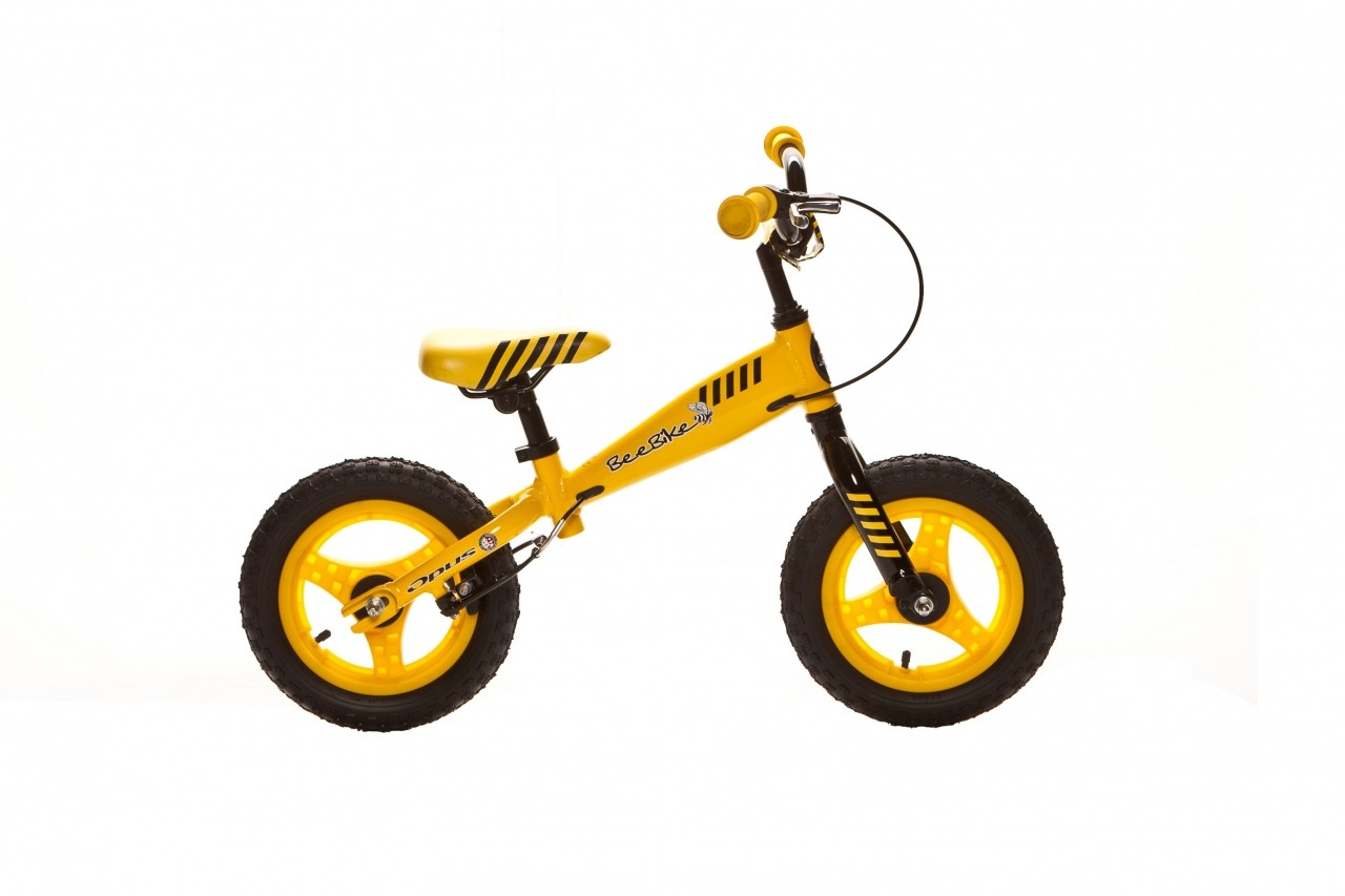 Even the 12-inch walk/run BeeBike has hand brakes