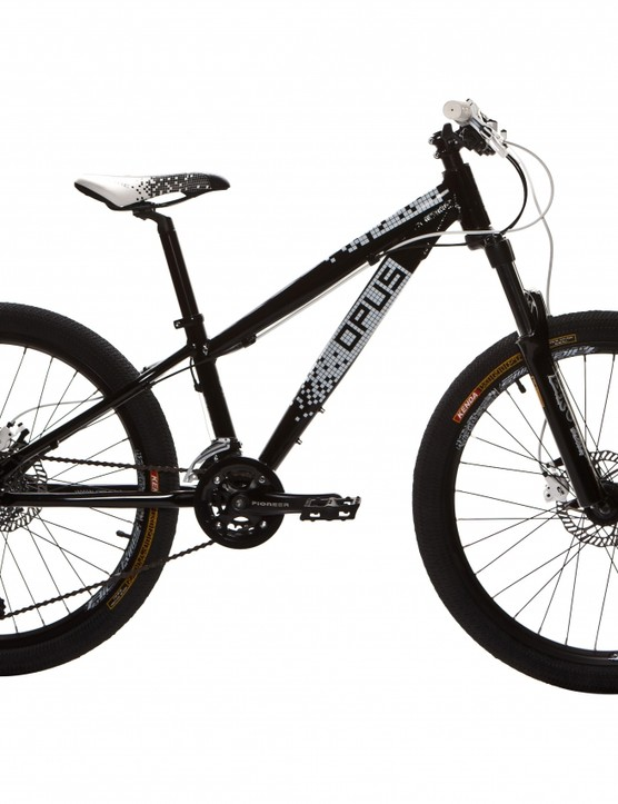 The 24-inch Spire features more travel than the Fever, plus a bash guard on its double ring