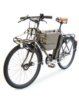 The updated Swiss Model 1993 bicycle featured equipped with a 7-speed cassette, and multiple carrying racks