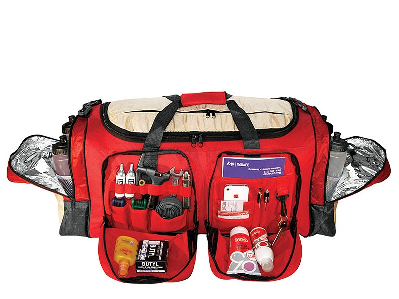 Every bit of kit you'd need for a race or cycling holiday is taken care of with Ventoux's Event Bag