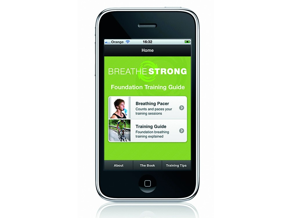 Breathe Strong training app for iPhone