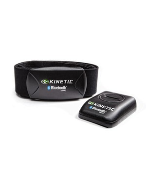 The heart rate monitor and power sensor use Bluetooth Smart to communicate with the app