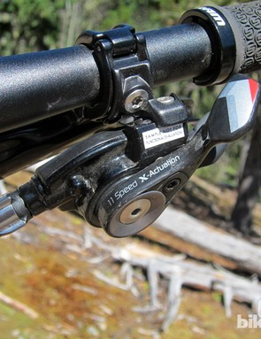 The SRAM XX1 trigger shifter internals are based on the X0 shifter but the look and feel are more like XX