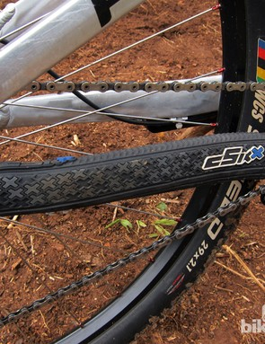 Another local South Africa company - cSixx - provides the burly chain stay protector