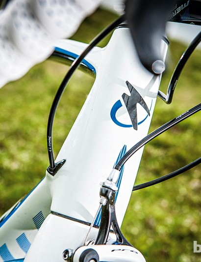 The big head tube means excellent steering precision without punishing stiffness