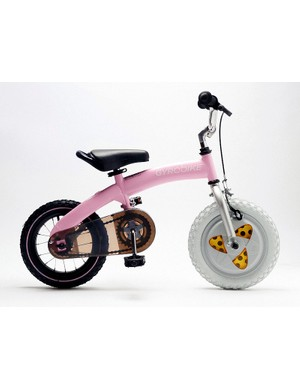The Gyrobike (£229) goes on sale on 30 August in blue, pink, green and red colours