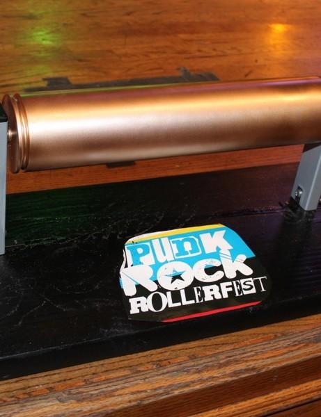 The grand prize for the evening's winner, the prestigious golden roller