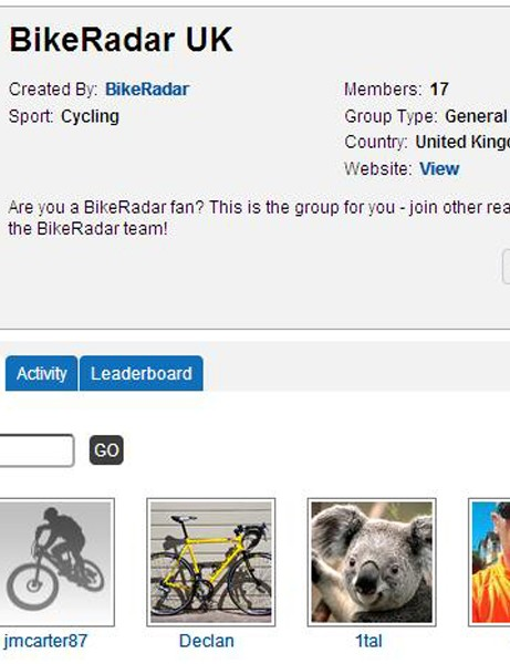 The BikeRadar UK group – get involved to interact with members of the team