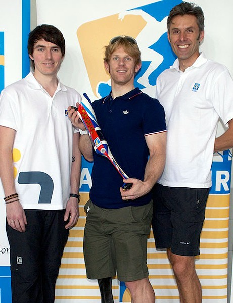 The patriotic design for Jody Cundy comes from firm behind Oscar Pistorious' blades, Icelandic firm Össur