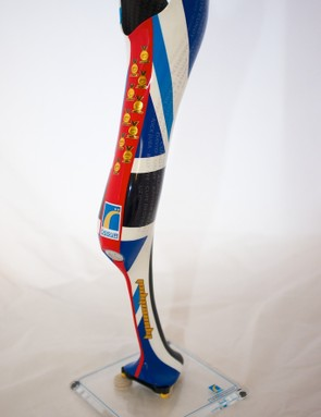 The medals Cundy has notched up throughout his career are celebrated on the prosthetic