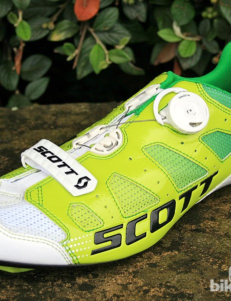 The Scott Road Premium Pro Team shoes got a debut outing at the Tour de France on the feet of Orica GreenEDGE riders