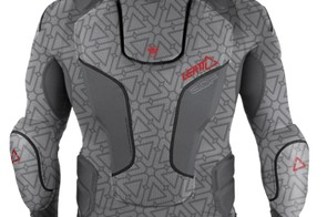 Leatt's new 3DF Body Protector, from the rear