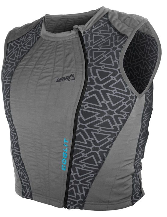 Leatt's new Coolit Vest is designed to be soaked in cold water before riding