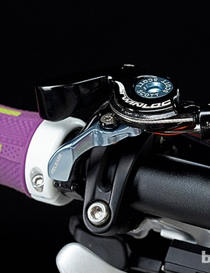 Scott's Twin Loc remote lever makes setting up the suspension pleasingly simple
