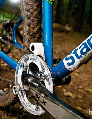 Gamut's P20 guide did a good job of keeping the chain in check