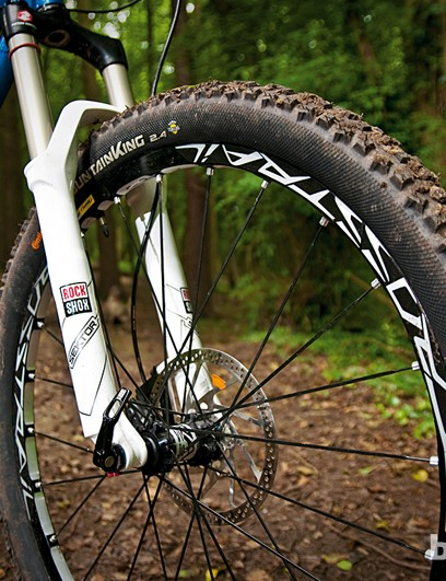 The RockShox Sector fork stood up to just about everything