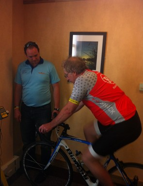 Bob, photographed before his bike fit