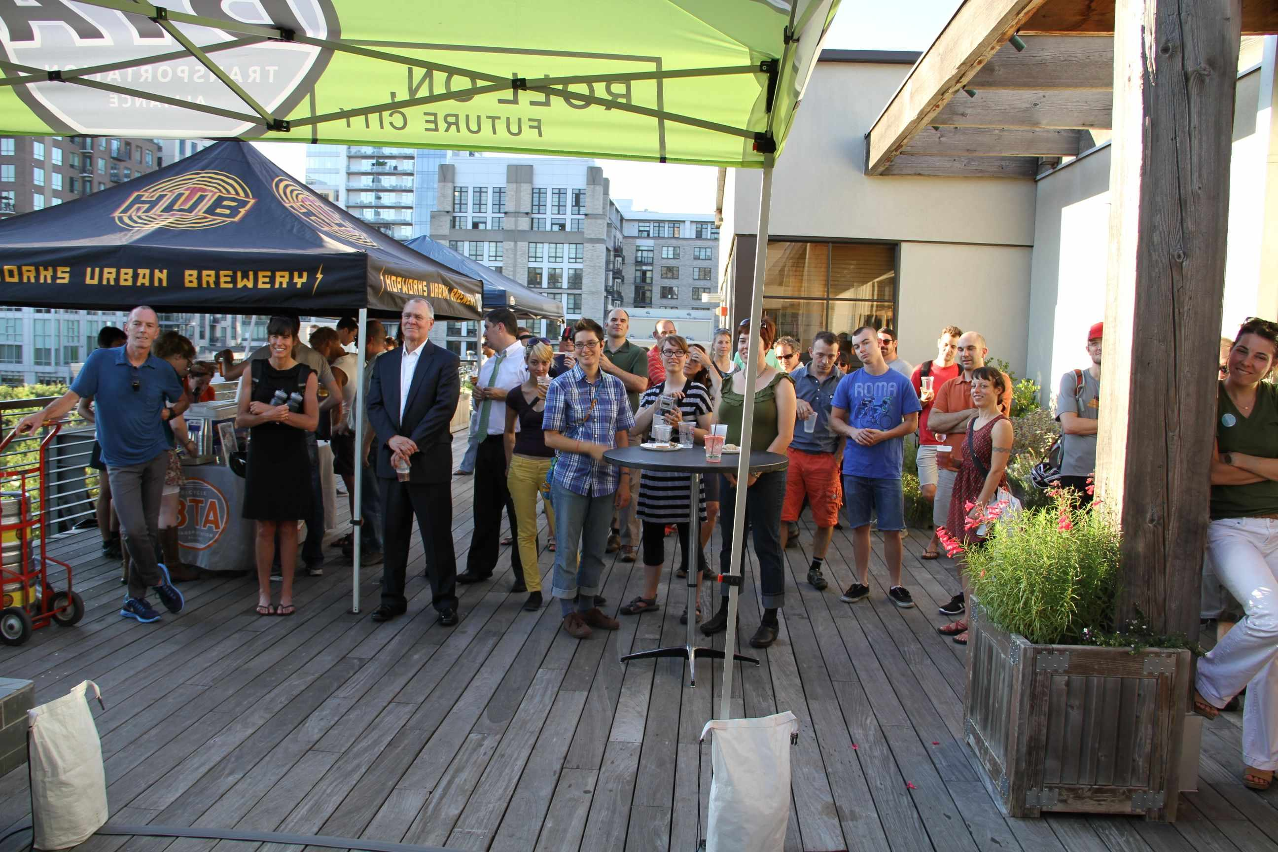 The rooftop Moots/CyclePath party