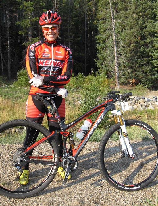 Kenda pro team rider Amanda Carey piloted her brand new 2013 Felt Edict Nine 29er to the overall Breck Epic win