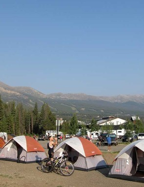 Most racers choose to stay in condos or hotels, but for those who choose tent city you couldn't beat the view