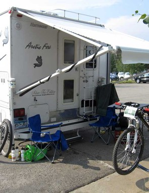 Many competitors choose to stay close to race HQ either in RVs or the nearby tent city
