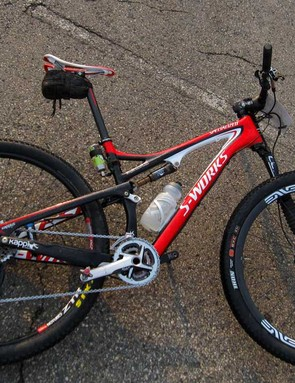 Russ Kappius, founder of Kappius Components, piloted this Specialized S-Works Epic to a convincing win in the men's 50-plus 6-day race. Big Russ swept all six stages, winning the overall by nearly 2 hours. And if Kappius had lined up in the 30+ race, he would have finished second