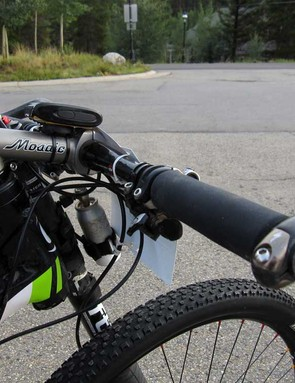 When it comes to his dual-suspension fat tire rig, Pearce likes things a little slammed