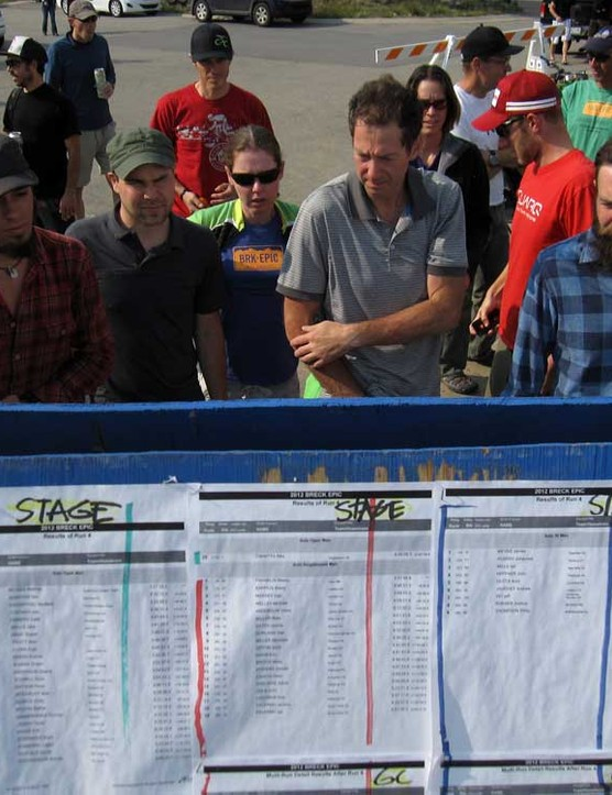 With 19 total categories split between 3-day, 6-day, solo, and duo racers, the results board was always a popular hangout