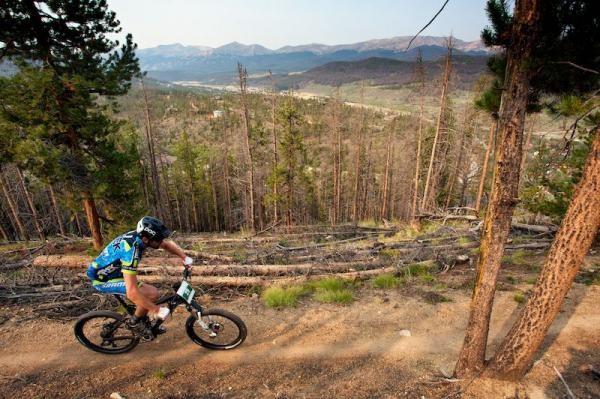 Ross Schnell rides high above Breckenridge Valley