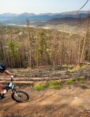 Ross Schnell rides high above Breckenridge Valley